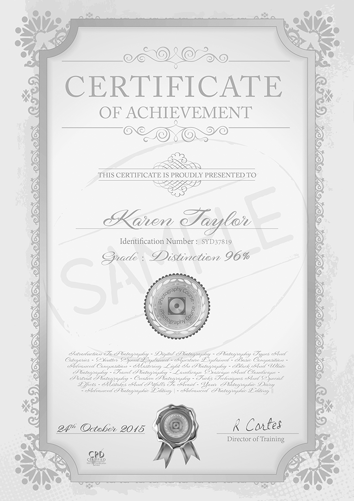 Certificate - Online Photography Courses | Photography Course ...