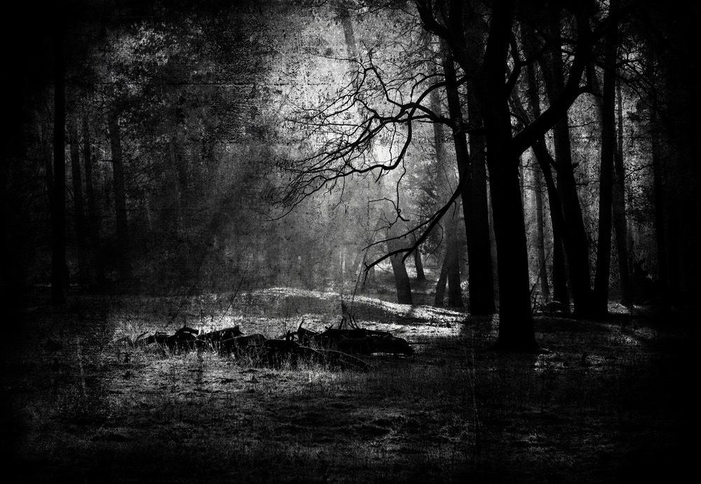 gritty grainy dark spooky