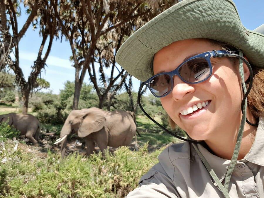 Rachel Sinclair on safari